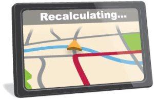 GPS Recalculating