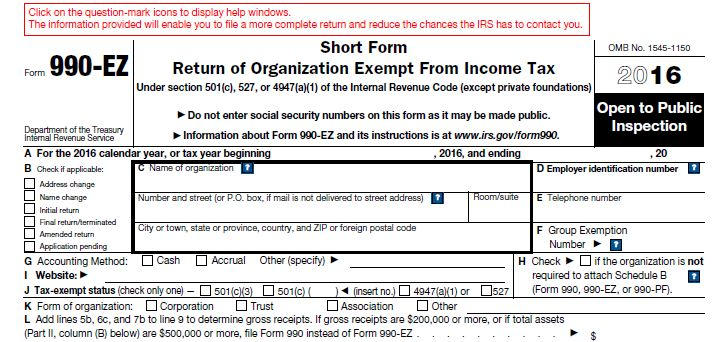 Irs Releases Updated Form 990 Ez One Voice Illinois