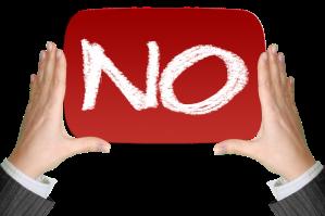 someone saying no
